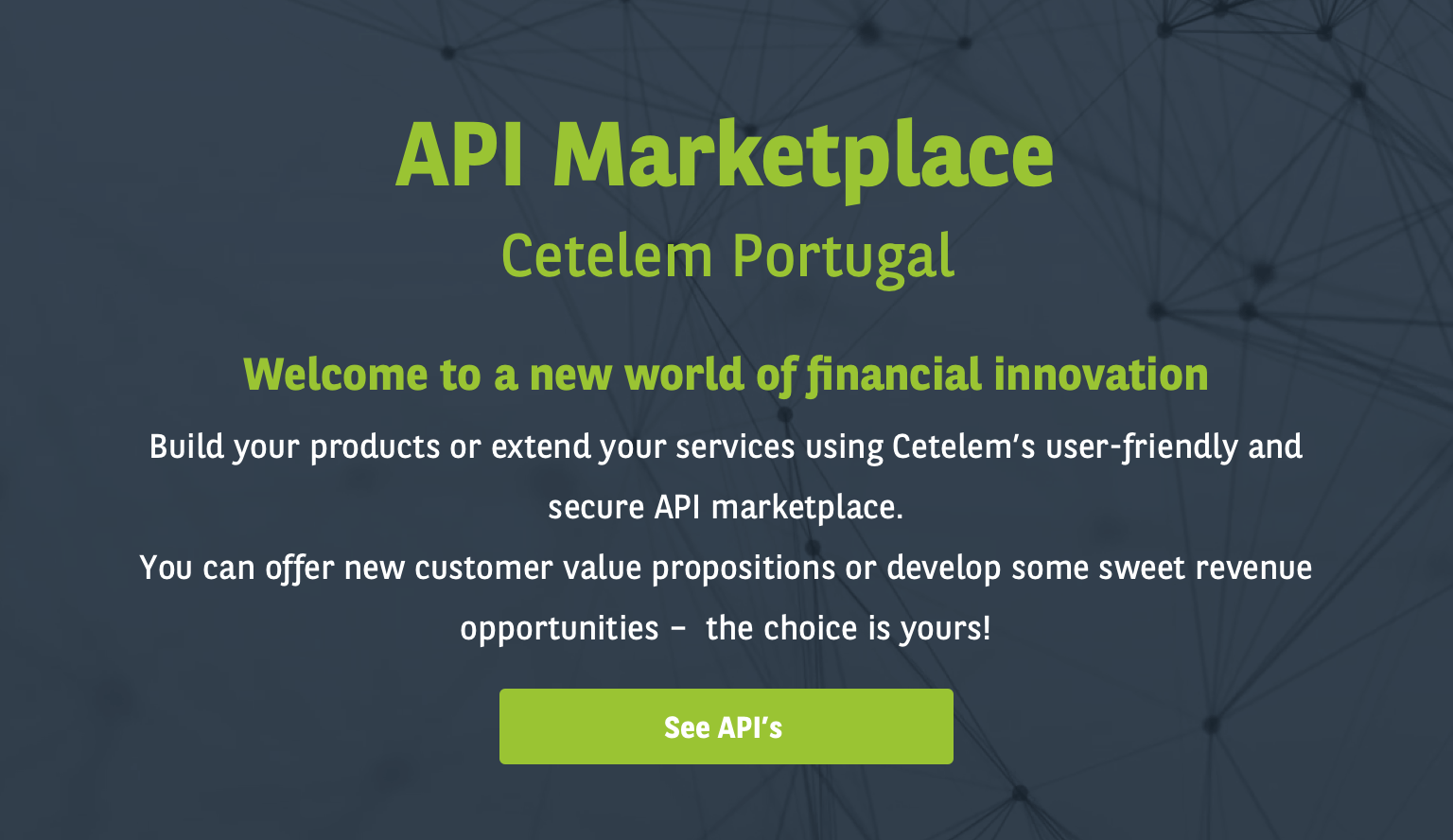 API Marketplace by Cetelem Portugal