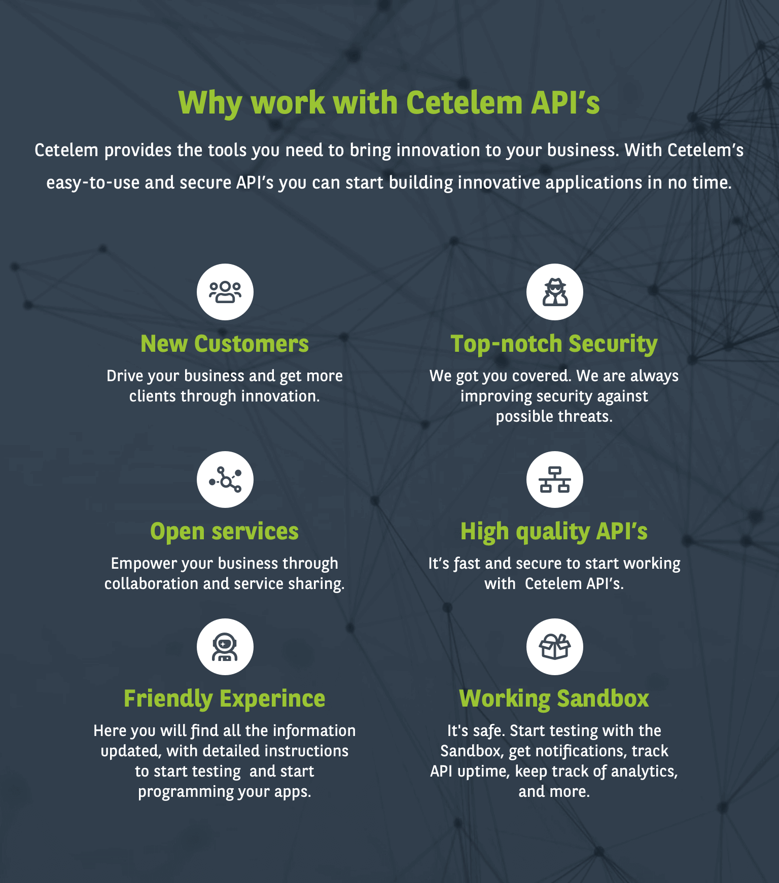 Why work with Cetelem Open Banking API's